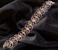 Bianka karkötő ezüstözött drótból