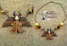 Maleficent Disney Maleficent, Tassel Necklace, Jewlery, Makeup, Crafts, Make Up, Manualidades, Jewerly, Schmuck