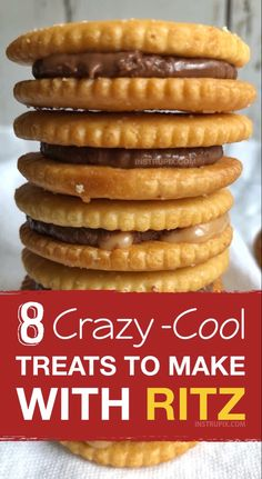 Easy and fun snack and treat ideas made with Ritz crackers! These Ritz cracker recipes are perfect for making treats, snacks, sandwiches and even pizza! Quick and easy snack ideas for kids. snacks recipes 8 Crazy-Cool Treats To Make With Ritz Crackers Snacks To Make, Quick Snacks, Healthy Snacks, Kid Snacks, Healthy Recipes, Easy Recipes, Simple Snacks, Amazing Recipes, Nutritious Meals
