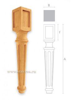 мебельная ножка с канелюром точеная MN-013