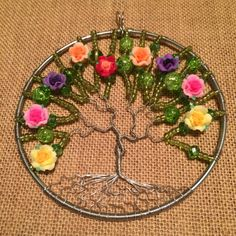Tree of life sun catcher floral sun catcher rose by SugarHillGems