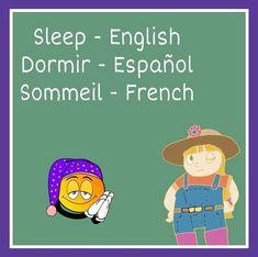 Farmer Carol's Word of The Day: Sleep Word Of The Day, S Word, Learning Spanish, Kids Learning, Learn French, Learn English, Kids Songs, Nursery Rhymes, Family Guy