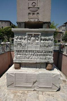 Base of the obelisk of Theodosius I, at the hippodrome, Istanbul, Turkey