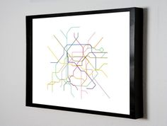 Paris Metro Subway Map ( LINE ART ) - 8.5 x 11 Print on Etsy, $10.00