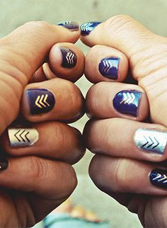 flash tattoos on top of nails - brilliant