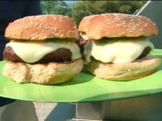 Green Chile Cheeseburgers from FoodNetwork.com