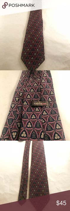Vintage Valentino Tie 100% Silk Beautiful vintage Valentino men's tie. 100% silk. Valentino Accessories Ties
