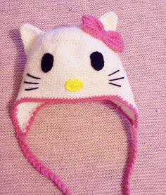 Chapeau hello kitty   (كروشيه طاقية  ( قبعة