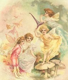 Handmade by Krista: Vintage Fairies