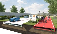 Road surfacing may not be the first application that comes to mind for recycled plastic bottles, but Dutch construction firm VolkerWessels has plans to use the material for a pilot scheme in the city of Rotterdam. While the idea is still at the. Rotterdam, Recycled Bottles, Recycle Plastic Bottles, Plastic Recycling, Lego Road, Crazy Paving, Asphalt Road, Construction Firm, Slippery When Wet