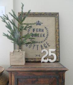 Sweet design from Fern Creek Cottage. Keep it simple sweetie.