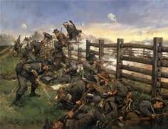 Keith Rocco's great painting of the Bloody Lane at Antietam (Sharpsburg).   Civil War Art - Bing images