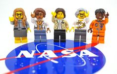 We're so excited to get a peek at the brand new Women of NASA LEGO minifig set, which include Sally Ride, Katherine Johnson, Mae Jemison and more. Yes!