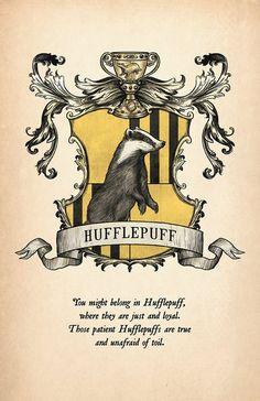 Hufflepuff House Crest Print