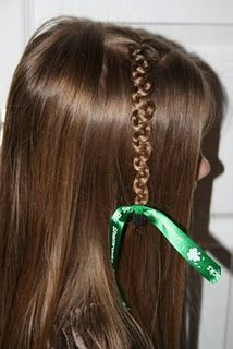 Teen Slide-Up Braid | St. Patrick's Day Hairstyle {Lucky Do #4}