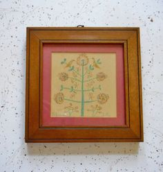 Small Framed Art Picture 6.5 by 6.5 Vintage by dabubblegumgirl