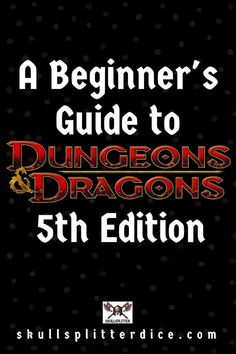 Love this DnD Father's Day gift idea! A Beginner's Guide to Dungeons & Dragons Edition from the SkullSplitter Dice Store Dungeons And Dragons Gifts, Dungeons And Dragons Homebrew, Dungeons And Dragons Adventures, Rpg Wallpaper, Rpg Dice, Dungeon Master's Guide, Dragon Rpg, Tabletop Rpg, Tabletop Games