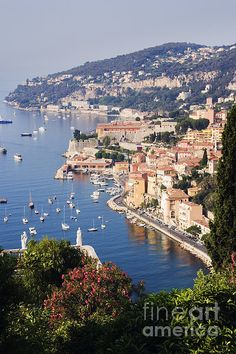 Seaside Town Of Villefranche Sur Mer In Southern France by Jeremy Woodhouse This.