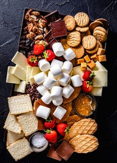 S'mores Party Platter & Awaiting Fall - Jelly Toast - S'mores Party Platter! Campfire Marshmallows S'mores Party Platter! Party Platters, Fruit Platters, Party Trays, Campfire Marshmallows, Dessert Platter, Snack Platter, Party Fruit Platter, Tapas Platter, Fruit Party