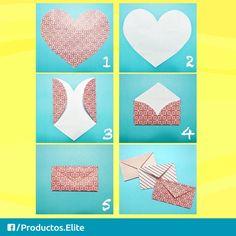 Convierte un corazón en un sobre para regalo. #ConsejosElite #DIY #SiempreContigo