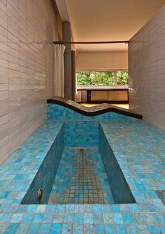 Villa Savoye, Le Corbusier, bathroom