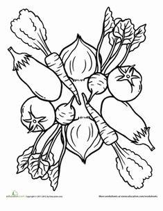 coloring mandalas fruit | Preschool Mandalas Worksheets: Tomatoes and Roots Mandala
