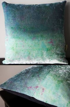 Spring inspired velvet ombre cushion available from my Etsy store: www.etsy.com/listing/183892355