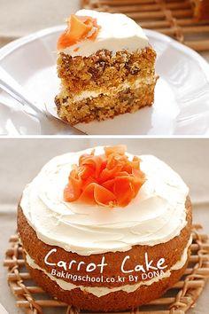 당근은 유지류와 잘 섞이는 것 아시죠? 당근 케이크에는 비타민 A, 비타민 B가 조금씩 있어서 케이크로 만들어 드시면 좋아요. 건포도와 섞어서 케이크로 만들어 보세요.