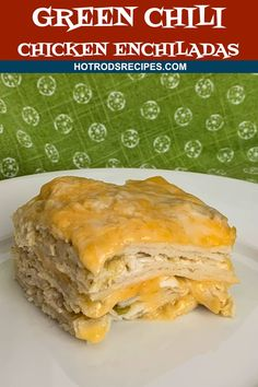 This Green Chili Chicken Enchilada Casserole recipe is super easy to make. Ready in less than 1 hour! Simple ingredients but full of flavor Green Chicken Enchilada Casserole, Green Chili Enchiladas, Green Chicken Enchiladas, Easy Chicken Enchilada Casserole, Bbq Pitmasters, Mexican Food Recipes, Mexican Dishes, Dinner Recipes, Dinner Ideas