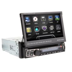 May Sale 7  In Dash 1 Din Car DVD Player GPS Navi Radio Bluetooth BT Stereo
