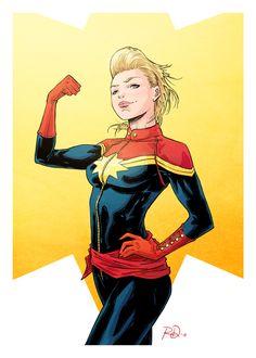 Captain Marvel by Russel Dauterman