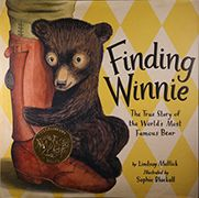 2016 Caldecott Medal Winner Finding Winnie: The True Story of the World's Most Famous Bear, illustrated by  Sophie Blackall, written by Lindsay Mattick and published by Little, Brown and Company, an division of Hachette Book Group, Inc.