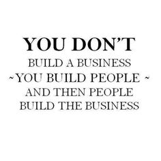 You're building and pampering PEOPLE and what comes naturally is building your business! We all help each other!!!