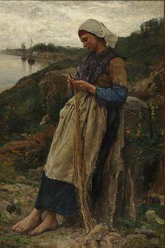 1878 - J. BRETON - fille de pêcheur
