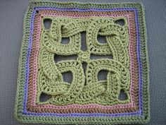 It's easier to tie the knots after the first 3 rows.