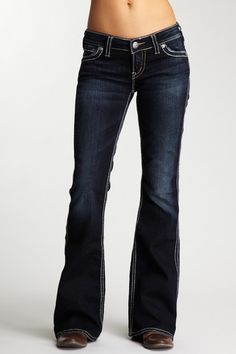 Replay Distressed Low Rise Jeans