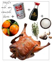 Holiday Menu Maple and soy roasted duck
