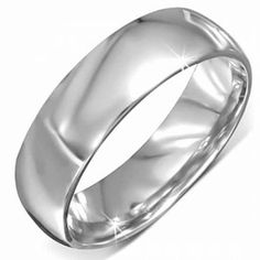 Stainless Steel Mirror Finish Polished Curved Band Ring For Men Men's Jewellery #mensfashion #mensjewellery www.urban-male.com