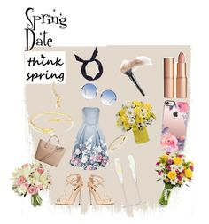 """Give Flowers for Spring Date"" by sendflowers ❤ liked on Polyvore featuring Chi Chi, Dolce&Gabbana, Casetify, MANGO, LSA International, yunotme, Linda Farrow and Gorjana"