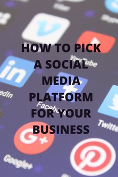 When starting an online business, which social media platform should you focus on, and why?  In this blog post, How to Pick a Social Media Platform for Your Business, Case Lane discusses the different social platforms - Facebook, Twitter, Instagram, YouTube and more - and reviews the practices and limitations of each.  In short, all platforms have positive features that an aspiring entrepreneur can use to her advantage. Social Media Trends, Public Profile, Getting Bored, Social Platform, Starting A Business, Writing A Book, Platforms, Online Business, Compliments
