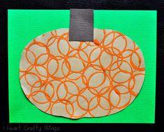 Circle Stamped Pumpkins