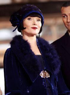 Essie Davis as Miss Fisher In 'Miss Fisher Murder Mysteries'.