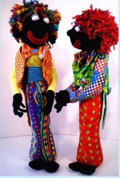 Gordon Golly cute male black cloth doll PATTERN Jill by kate54
