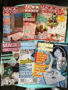 Magic Crochet vintage craft magazine back issues from 1986 - crafting - craft projects by SweetEmotionVintages on Etsy
