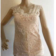 "Intimately Free People eyelash lace top XS Completely lined with a seamed waist. Beautiful blush color. Cannot find materials tag but has a slight amount of stretch. Approx 30"" bust. ✅offers❌trades/PP bundles save 20% off 2+ Free People Tops"