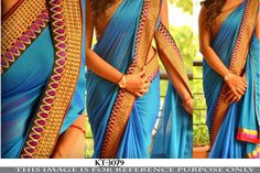 Indian Bollywood Style Heavy Wedding Beautiful Party Designer Saree Sari 3079