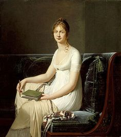 Portrait of a Woman Holding a Pencil and a Drawing Book, circa 1808 by Robert-Jacques Lefèvre (France, Bayeux, 1755 - 1830)