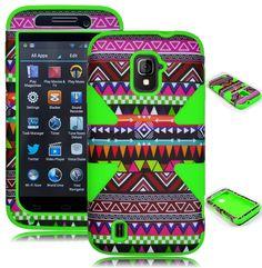For ZTE Majesty Z796C Hybrid Green Tribal Aztec Hard Dynamic Case / Cover  #UnbrandedGeneric