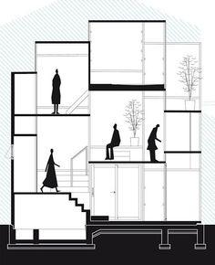 House NA / Sou Fujimoto Architects Japan Architecture, Architecture Graphics, Architecture Drawings, Concept Architecture, Sustainable Architecture, Architecture Design, Classical Architecture, Sou Fujimoto, House Tokyo