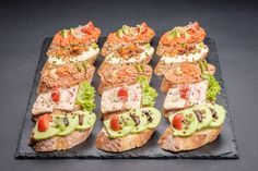 Catering, Slovak Recipes, Tapas, Good Food, Yummy Food, Canapes, Finger Foods, Sushi, Buffet